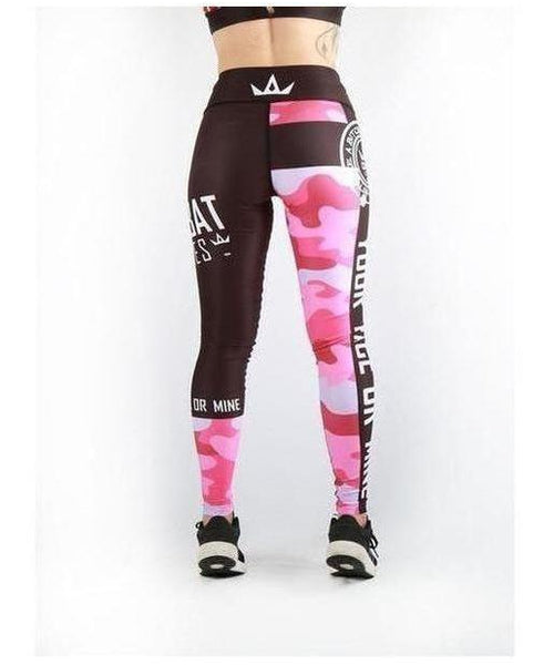 Combat Dollies Fitness Leggings Pink Camo-Combat Dollies-Gym Wear