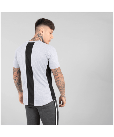 Versa Forma Booksar Vented T-Shirt Grey-Versa Forma-Gym Wear