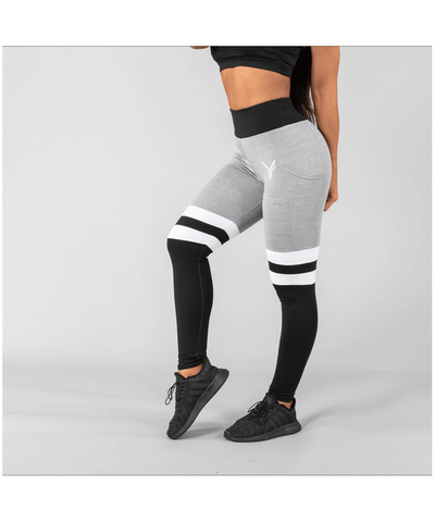 Versa Forma Vivekk High Waisted Leggings Black/Grey-Versa Forma-Gym Wear