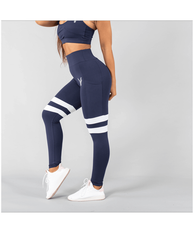 Versa Forma Vivekk High Waisted Leggings Navy-Versa Forma-Gym Wear