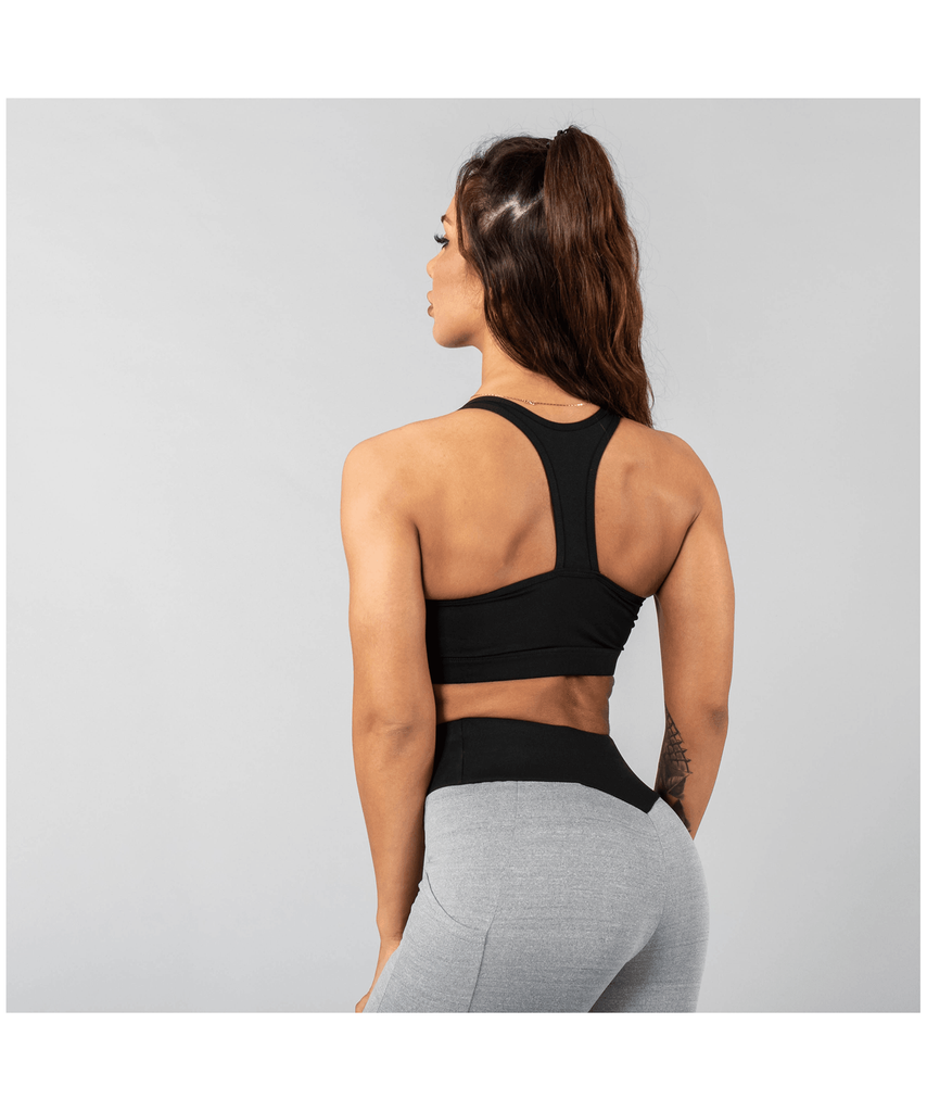 Versa Forma Vivekk Sports Bra Black/Grey-Versa Forma-Gym Wear