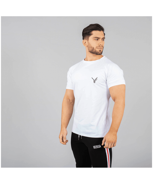 Versa Forma Coms T-Shirt White-Versa Forma-Gym Wear