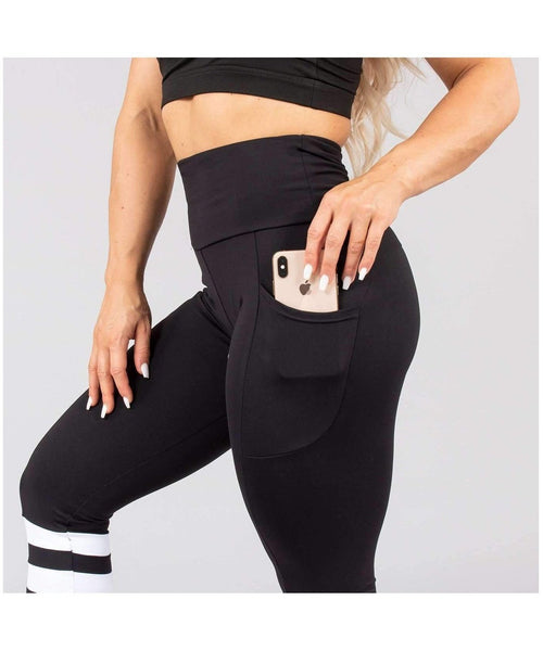 Versa Forma Lagom High Waisted Leggings Black-Versa Forma-Gym Wear