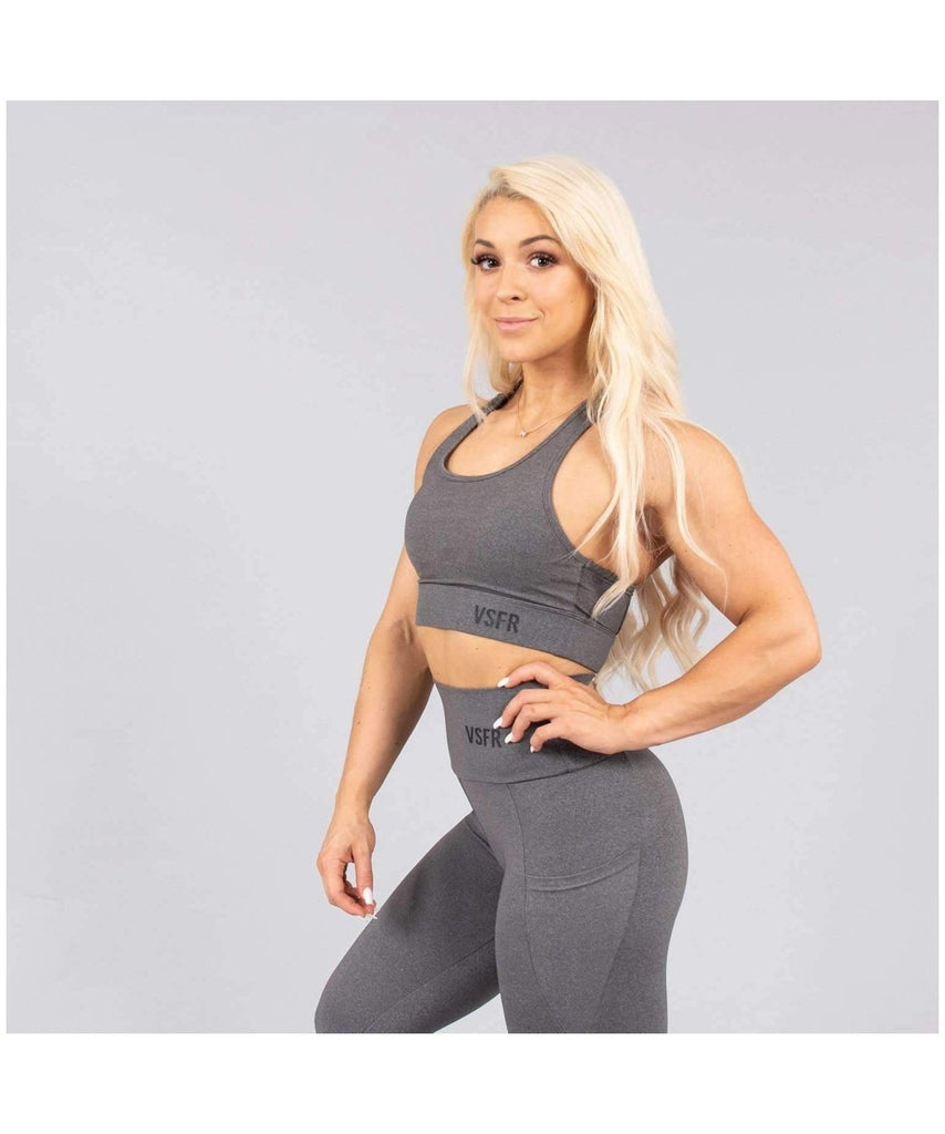 Versa Forma Mode Sports Bra Grey-Versa Forma-Gym Wear