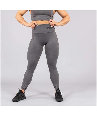 Versa Forma Mode High Waisted Leggings Grey-Versa Forma-Gym Wear