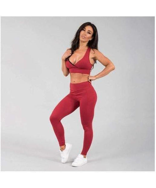 Versa Forma Motif 501 Leggings Crimson-Versa Forma-Gym Wear