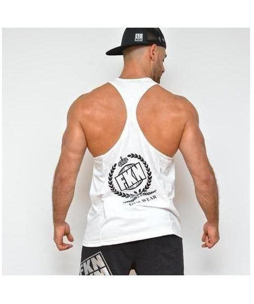 Mens FKN Royale Takeover TBack Stringer Vest White