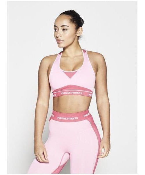 Pursue Fitness Seamless Sports Bra Pastel Pink-Pursue Fitness-Gym Wear