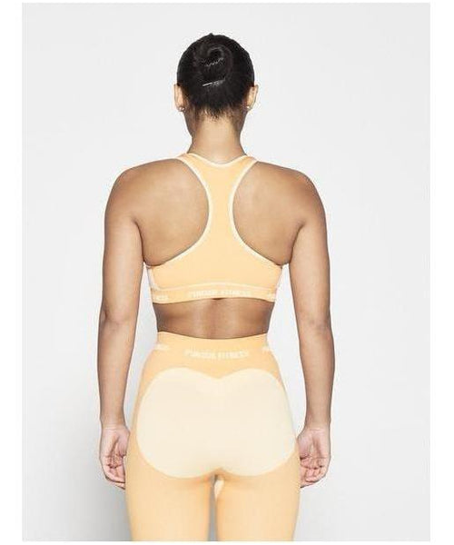 Pursue Fitness Seamless Sports Bra Sherbet Orange-Pursue Fitness-Gym Wear