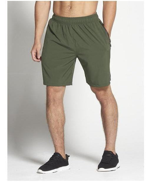 "Pursue Fitness 8"" Gym Shorts Khaki-Pursue Fitness-Gym Wear"