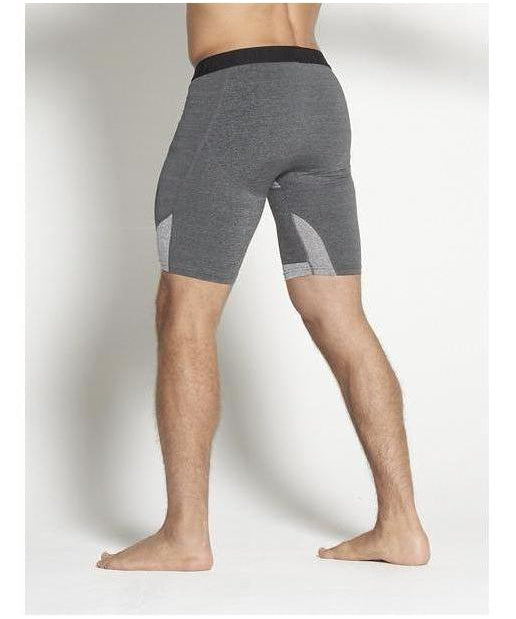 Pursue Fitness Compression Shorts Heather Grey-Pursue Fitness-Gym Wear