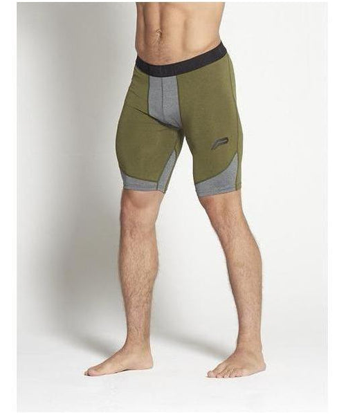 Pursue Fitness Compression Shorts Khaki-Pursue Fitness-Gym Wear