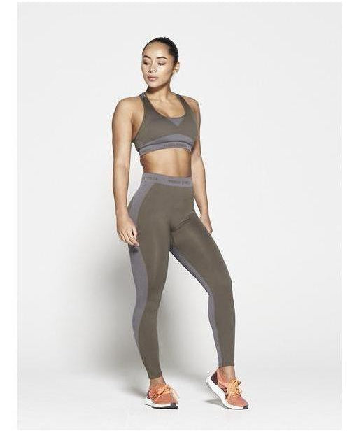 Pursue Fitness Seamless High Waisted Leggings Khaki-Pursue Fitness-Gym Wear