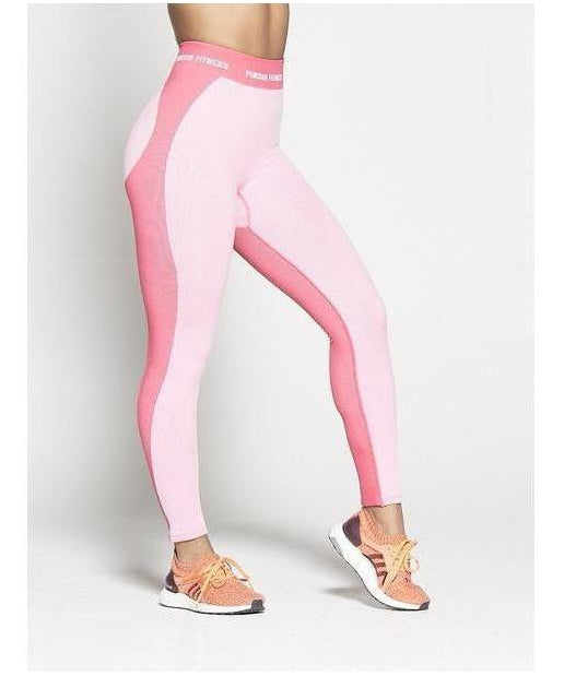 4dac98143bc9f Pursue Fitness Seamless High Waisted Leggings Pastel Pink-Pursue Fitness-Gym  Wear