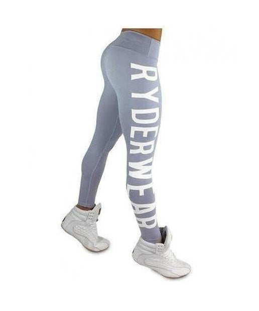 RyderWear Womens Boss Girl Leggings Silver-RyderWear-Gym Wear
