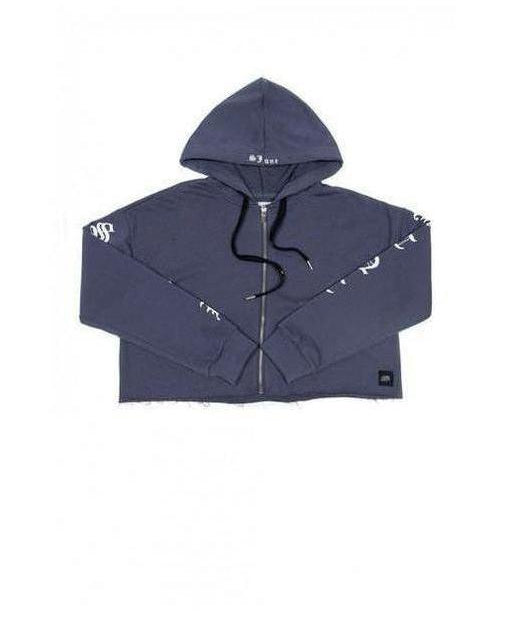 Image of Sixth June Gothic Zip-Up Hoodie Blue