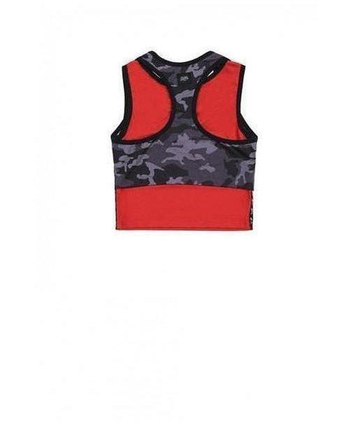 Sixth June Camo Sports Bra Black-Sixth June-Gym Wear