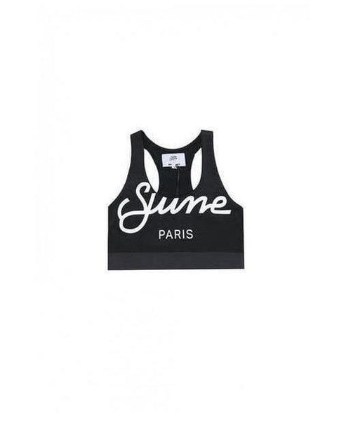 Sixth June Logo Sports Bra Black-Sixth June-Gym Wear
