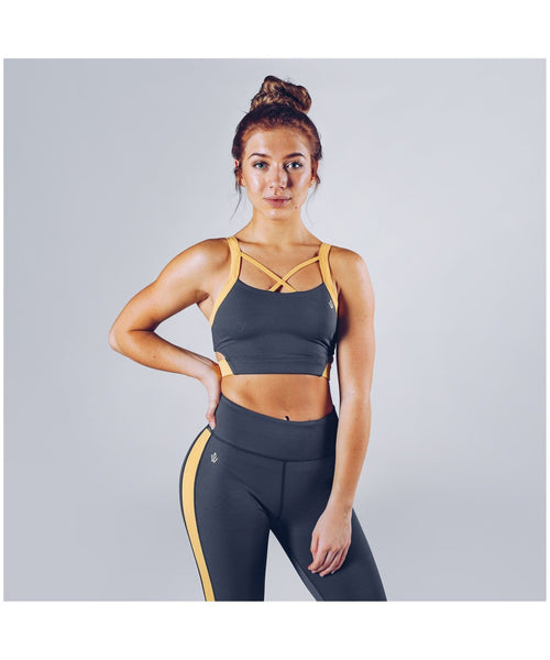 Workout Empire Strike Sports Bra Grey-Workout Empire-Gym Wear