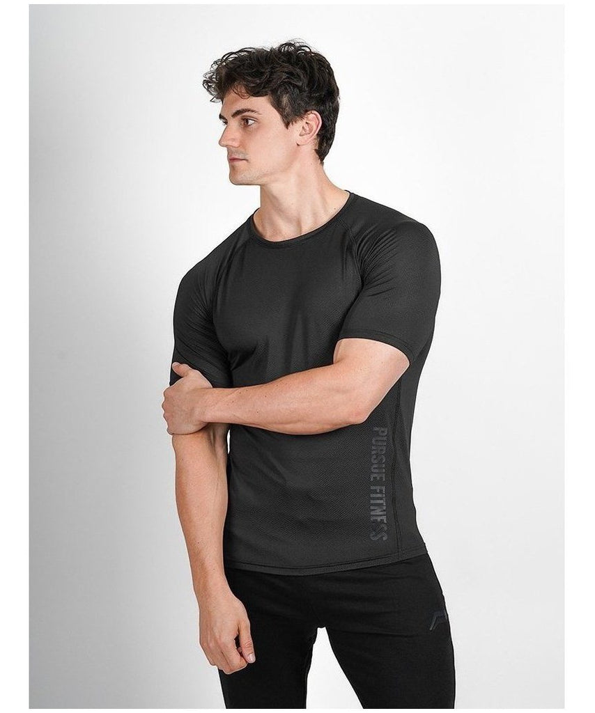 Pursue Fitness Breatheasy T-Shirt Black-Pursue Fitness-Gym Wear