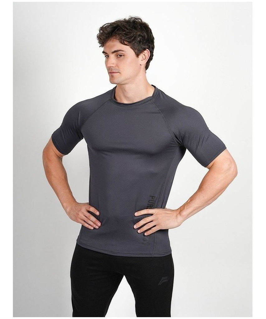 Pursue Fitness Breatheasy T-Shirt Grey-Pursue Fitness-Gym Wear