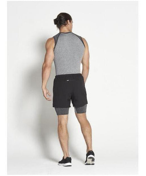 Pursue Fitness Compression Sleeveless T-Shirt Dark Grey-Pursue Fitness-Gym Wear