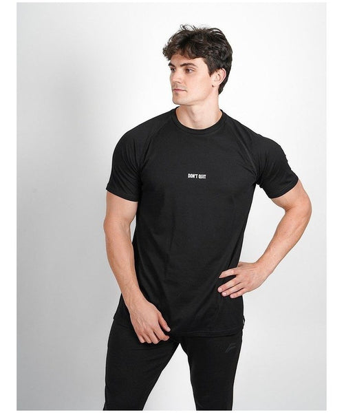 Pursue Fitness Don't Quit T-Shirt Black-Pursue Fitness-Gym Wear