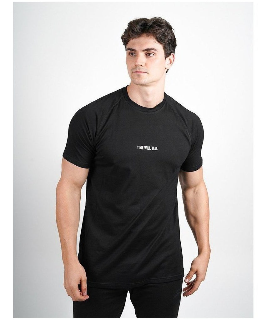 Pursue Fitness Time Will Tell T-Shirt Black-Pursue Fitness-Gym Wear