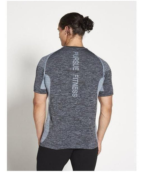 Pursue Fitness XENO Seamless T-Shirt Blue-Pursue Fitness-Gym Wear