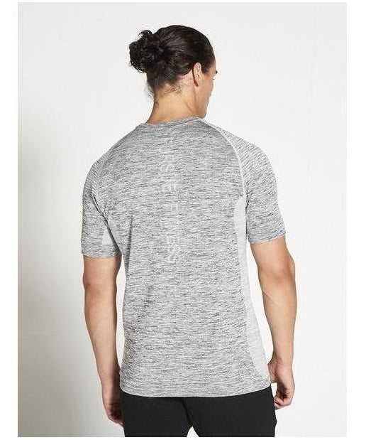 Pursue Fitness XENO Seamless T-Shirt Grey-Pursue Fitness-Gym Wear