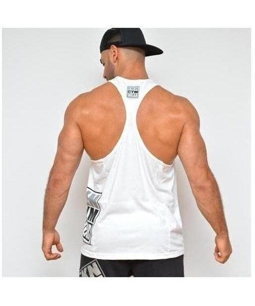 Mens FKN Takeover TBack Stringer Vest White