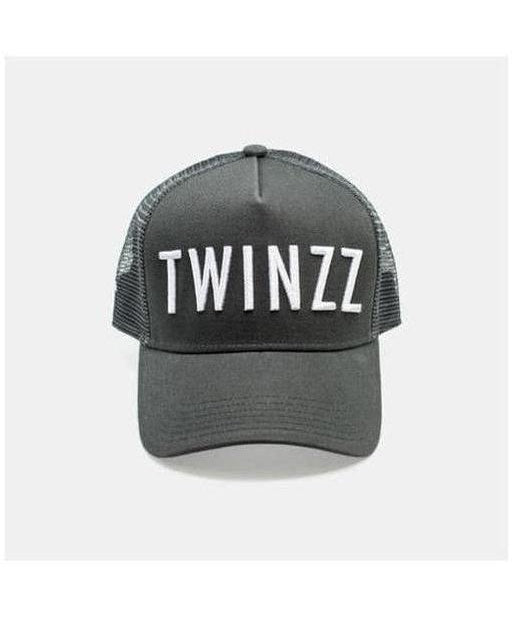 Twinzz 3D Mesh Trucker Cap Charcoal/White-Twinzz-Gym Wear