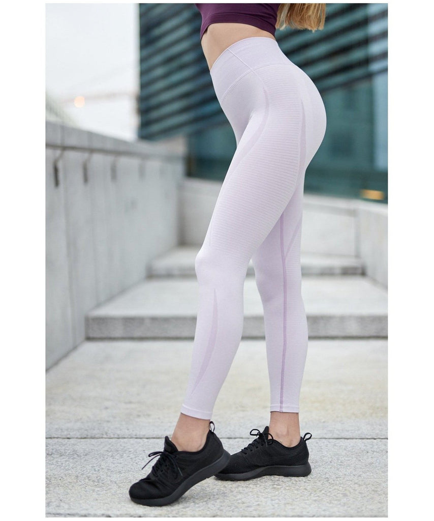 Famme Elevate Vortex High Waisted Leggings Orchid Bloom-Famme-Gym Wear