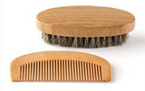 BEARD BRUSH & COMB GROOMING KIT