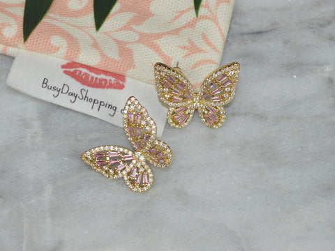 Butterfly Stud Earrings - BusyDayShopping