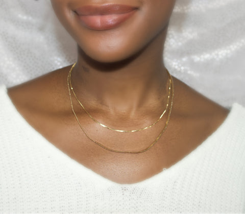 Double Up 14K Gold Necklace - BusyDayShopping