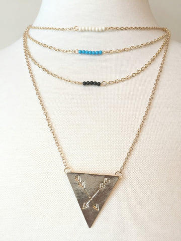 Triangle Arrows Necklace - BusyDayShopping