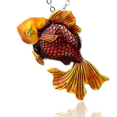 Alloy Goldfish Pendants 55mm