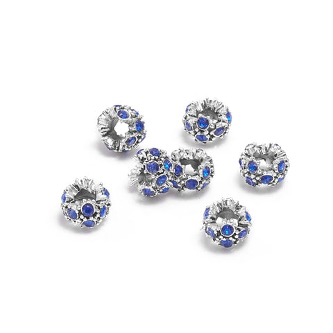 Rhinestone Spacer Beads 13mm
