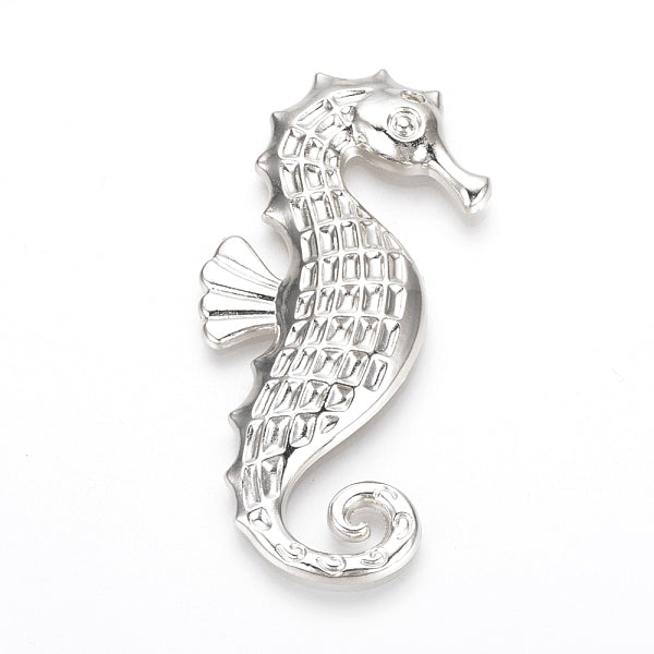 Alloy Big Pendants (Sea Horse) 65 mm