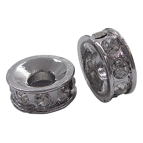 Alloy Rhinestone Spacer Beads 12.5 mm