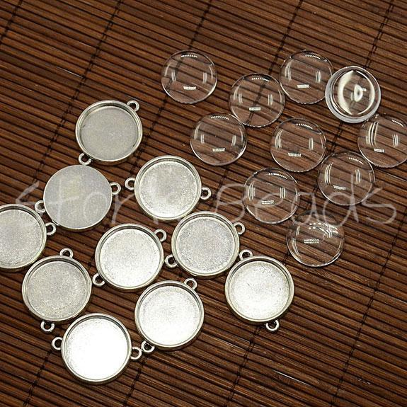 20mm Clear Domed Glass Cabochon Cover