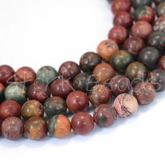 Natural Turquoise Round Bead Strands