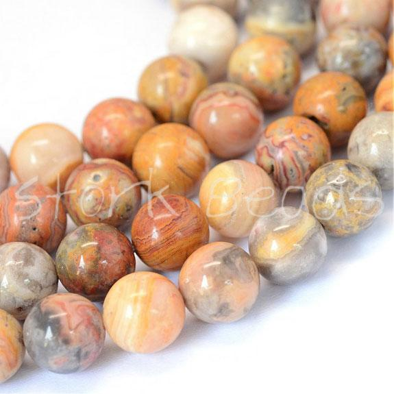 Crazy Agate Round Bead Strands