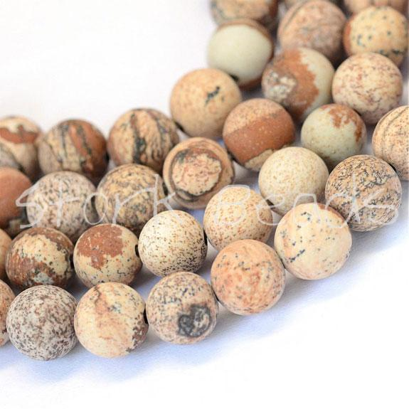Natural Jasper Round Bead Strands
