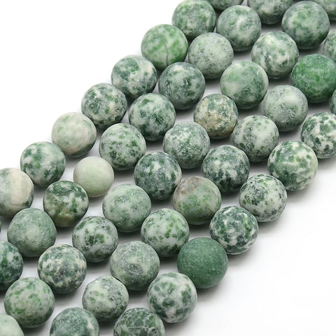 Green Spot Jasper - Natural Frosted