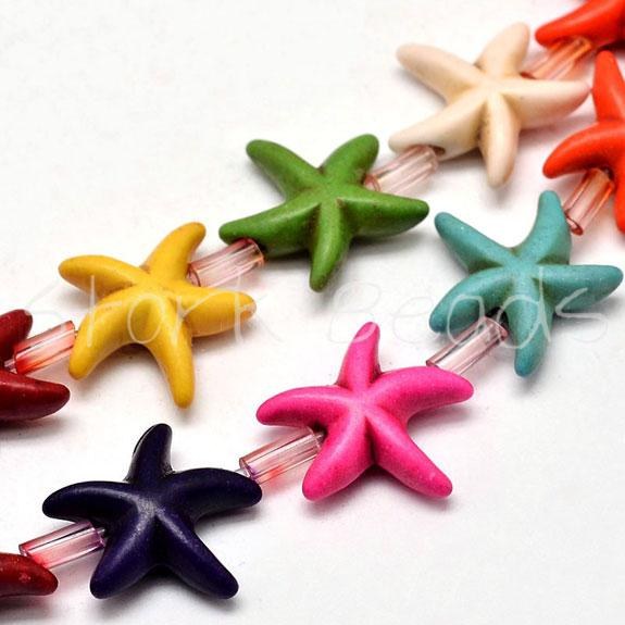 Starfish Synthetic Turquoise Bead Strands