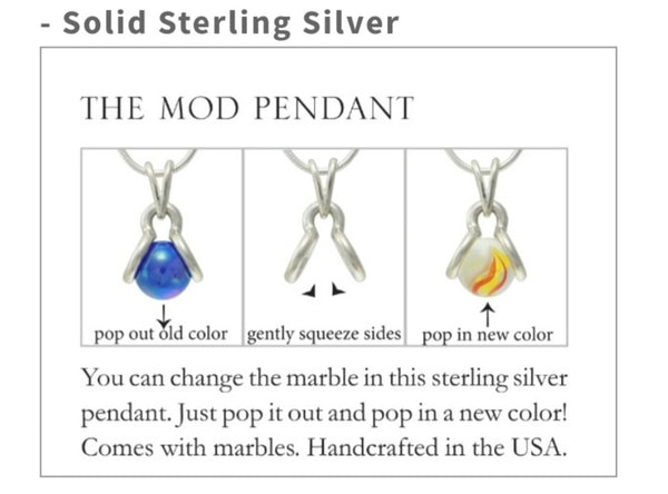 GAYM MOD PENDANT - SOLID STERLING SILVER