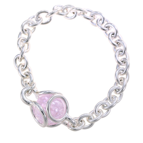 GAYM-16MM PLAYER MARBLEPOP! UNITY LINK BRACELET - SILVER PLATED