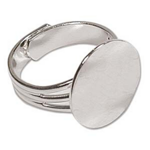 Adjustable Ring W/ Flat Disc
